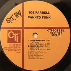 JOE FARRELL:CANNED FUNK(LABEL SIDE-B)