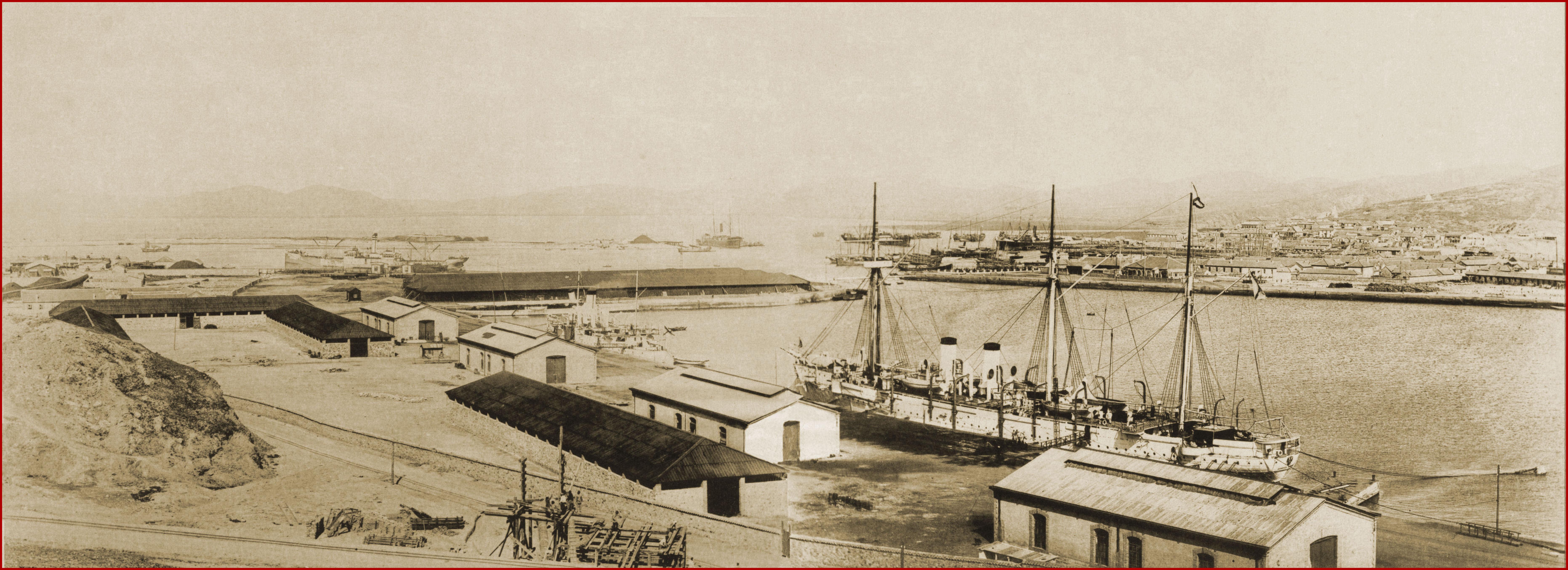 Панорама П-Артура Восточный бассейн-1898-99