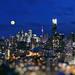 Full Moon in Blue Dreams of Toronto by Katrin Ray