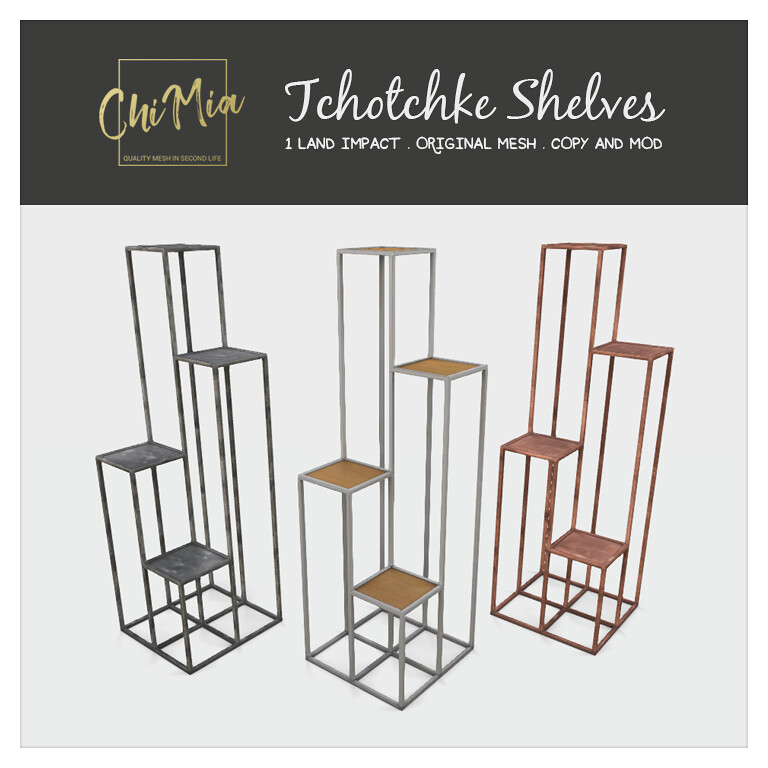 Tchotchke Shelves by ChiMia - TeleportHub.com Live!