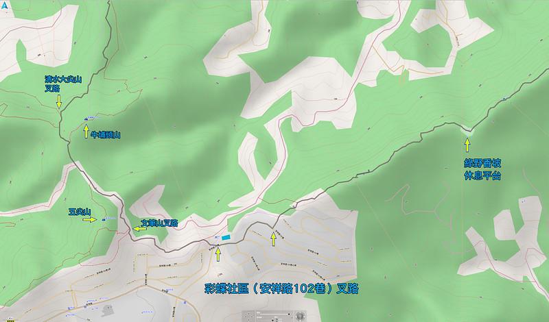 021、標示軌跡四:中和步道O型:彩蝶社區出入口