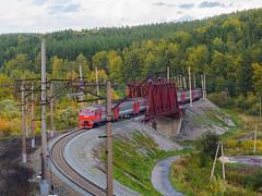 ЭД2Т - 0019 на перегоне Томск 2 - Томск 1.
