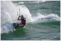 Hayling Island kite surfers