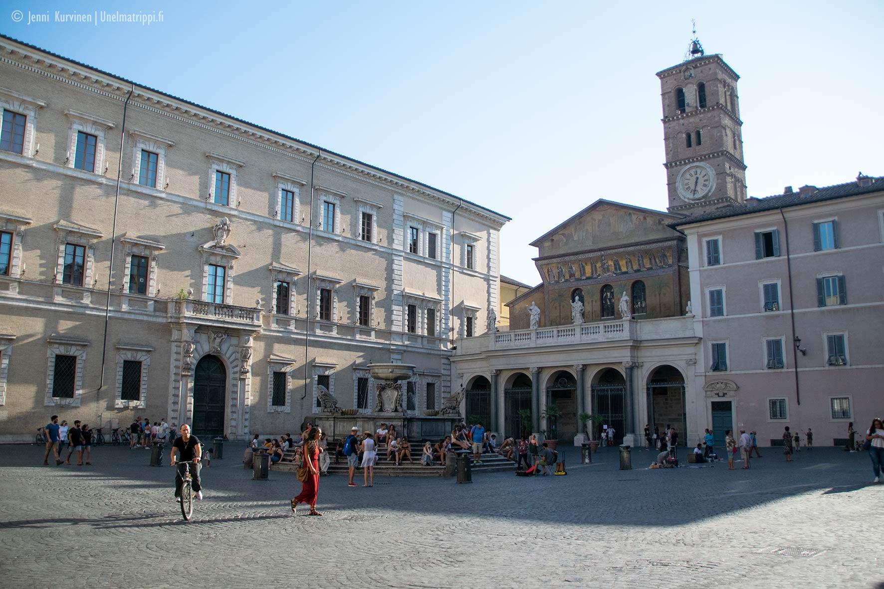 Santa Marian aukio, Trastevere