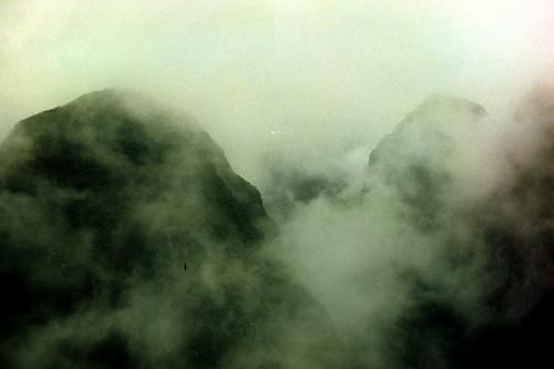 film minoltasrt100 peru cusco machupicchu fog clouds mountain atmosphere