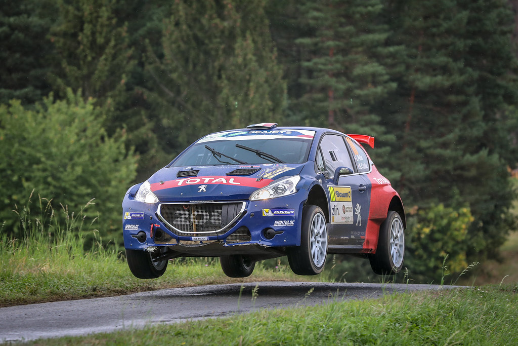 10 Pellier Laurent, Combe Geoffrey, FRA/FRA, Peugeot Rally Academy, Peugeot 208 T16 R5, Action during the 2018 European Rally Championship ERC Barum rally,  from August 24 to 26, at Zlin, Czech Republic - Photo Alexandre Guillaumot / DPPI