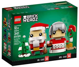 今年的聖誕老公公不孤單~~ LEGO BrickHeadz 系列 40274【聖誕老公公、聖誕老婆婆】Mr. Claus - Mrs. Claus