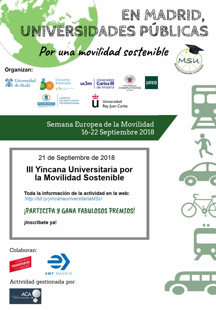 III Yincana Universitaria de la Movilidad Sostenible