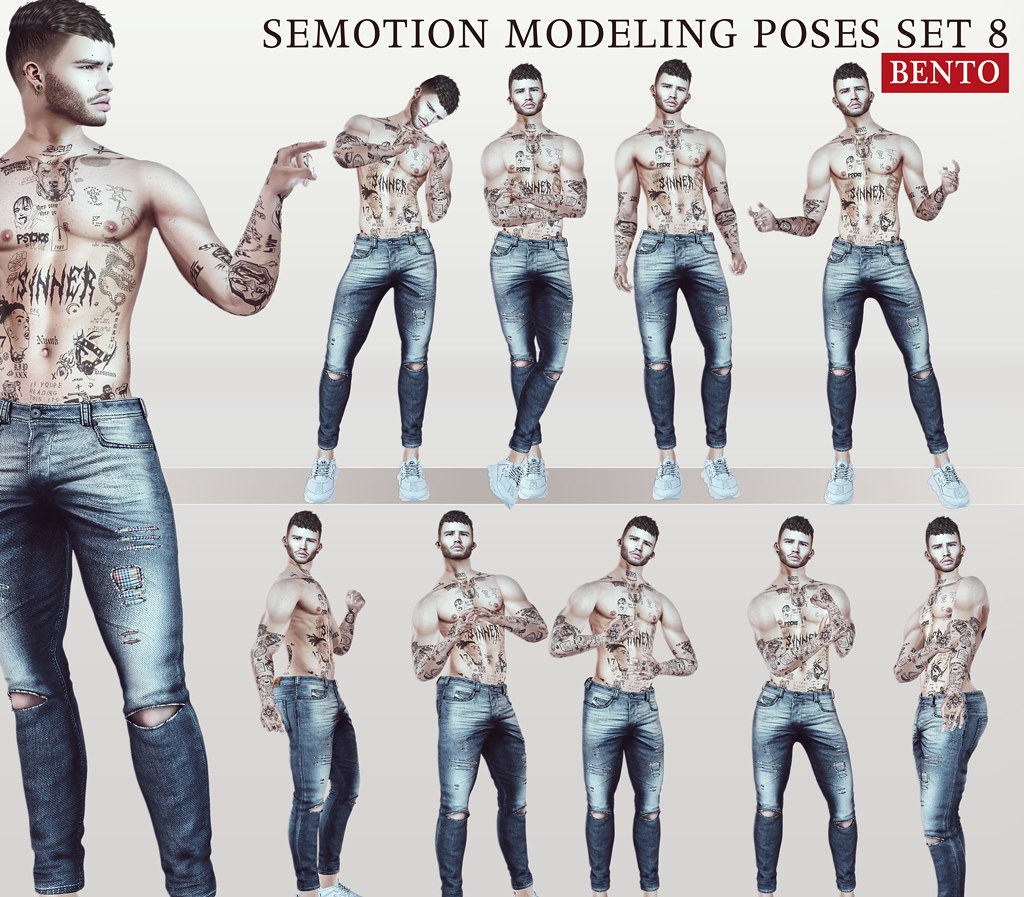 SEmotion Male Bento Modeling poses Set 8 - TeleportHub.com Live!