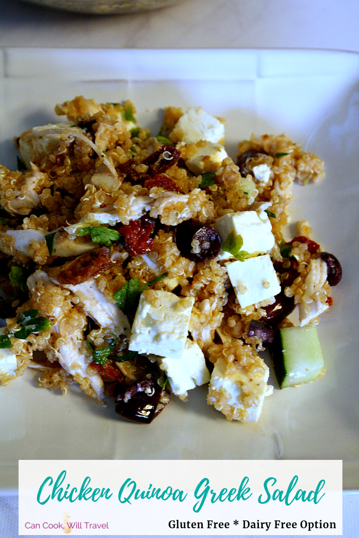 Chicken Quinoa Greek Salad