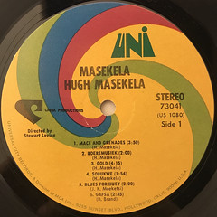 HUGH MASEKELA:MASEKELA(LABEL SIDE-A)