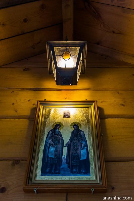 Икона преподобных Сергия и Германа Валаамских, Северная Фиваида, Рауталахти, Карелия