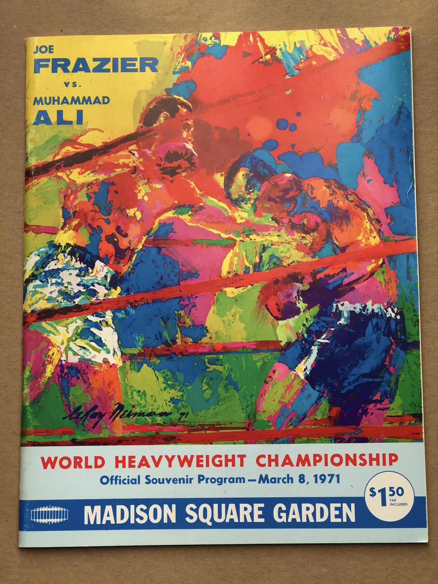 1971 Official Souvenir Program Frazier vs Ali