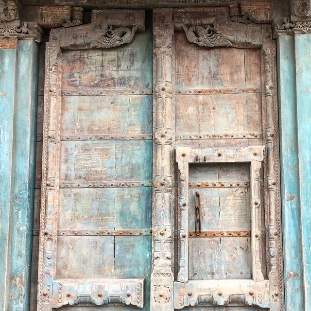Ancient Temple Doors on a Modern Restaurant