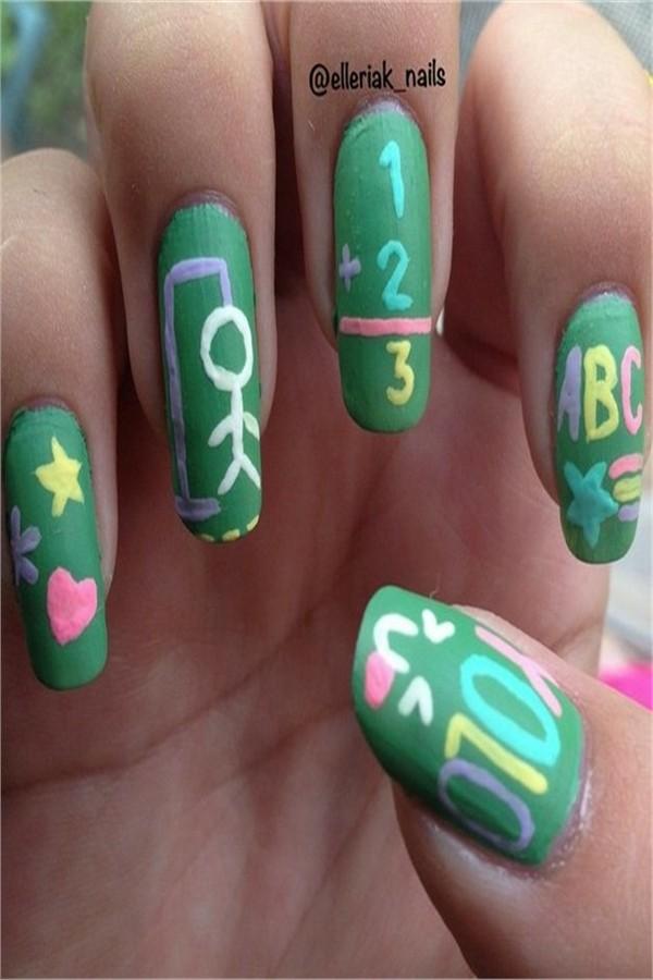 25+ Pretty Back To School Nail Art Designs Ideas #fashonails #back_to_school_nails