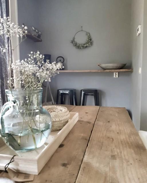 Nisje keuken gipskruid krukken