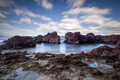 longexposure beach mzuiko1240f28 olympusomdem1markii portmacquarie nd1000 sky clouds flynnsbeach the0doraphotography rocks colour