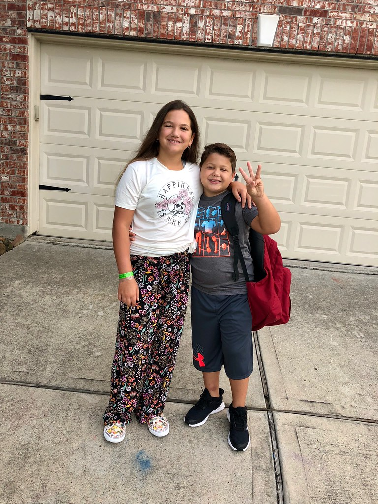 First day of school. 2018-2019 3rd & 6th Grade!!!