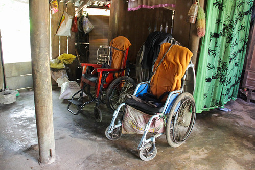 Nguyen Van Phan and Nguyen Van Lam's wheelchairs