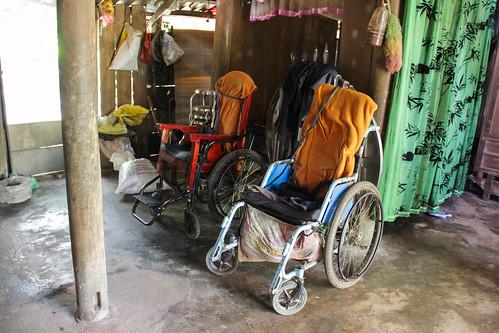 Nguyen Van Phan and Nguyen Van Lam's wheelchairs