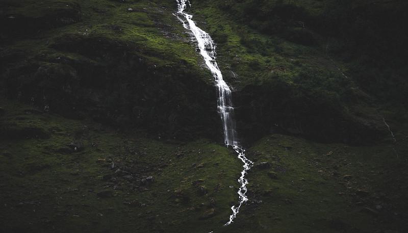 Moody waterfall in Norway