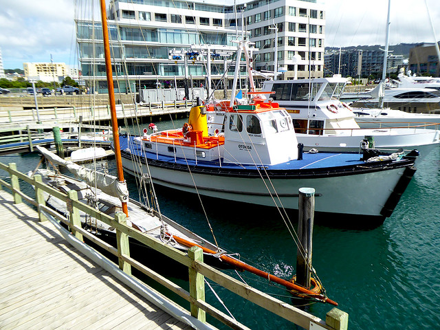 Present Day Boats moored alongside the Clyde Quay Wharf, carrying on the traditions of Wellingtons association with the sea.
