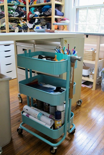 2018 Studio - supplies cart