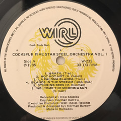 COCKSPUR FIVE STAR STEEL ORCHESTRA:VOL.1(LABEL SIDE-A)