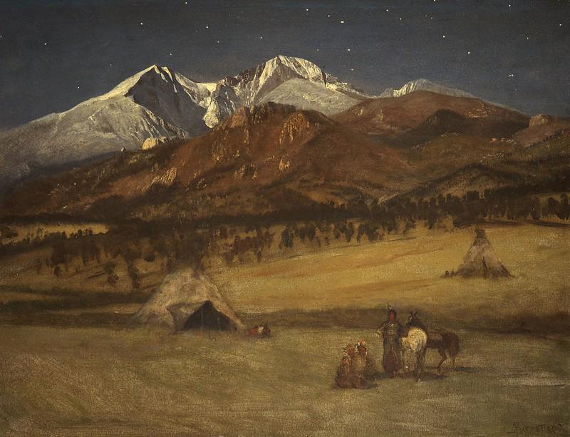 Albert Bierstadt - Indian Encampment - Evening (c.1876)