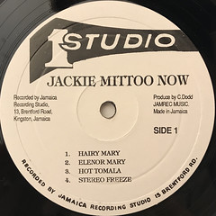 JACKIE MITTOO:NOW(LABEL SIDE-A)