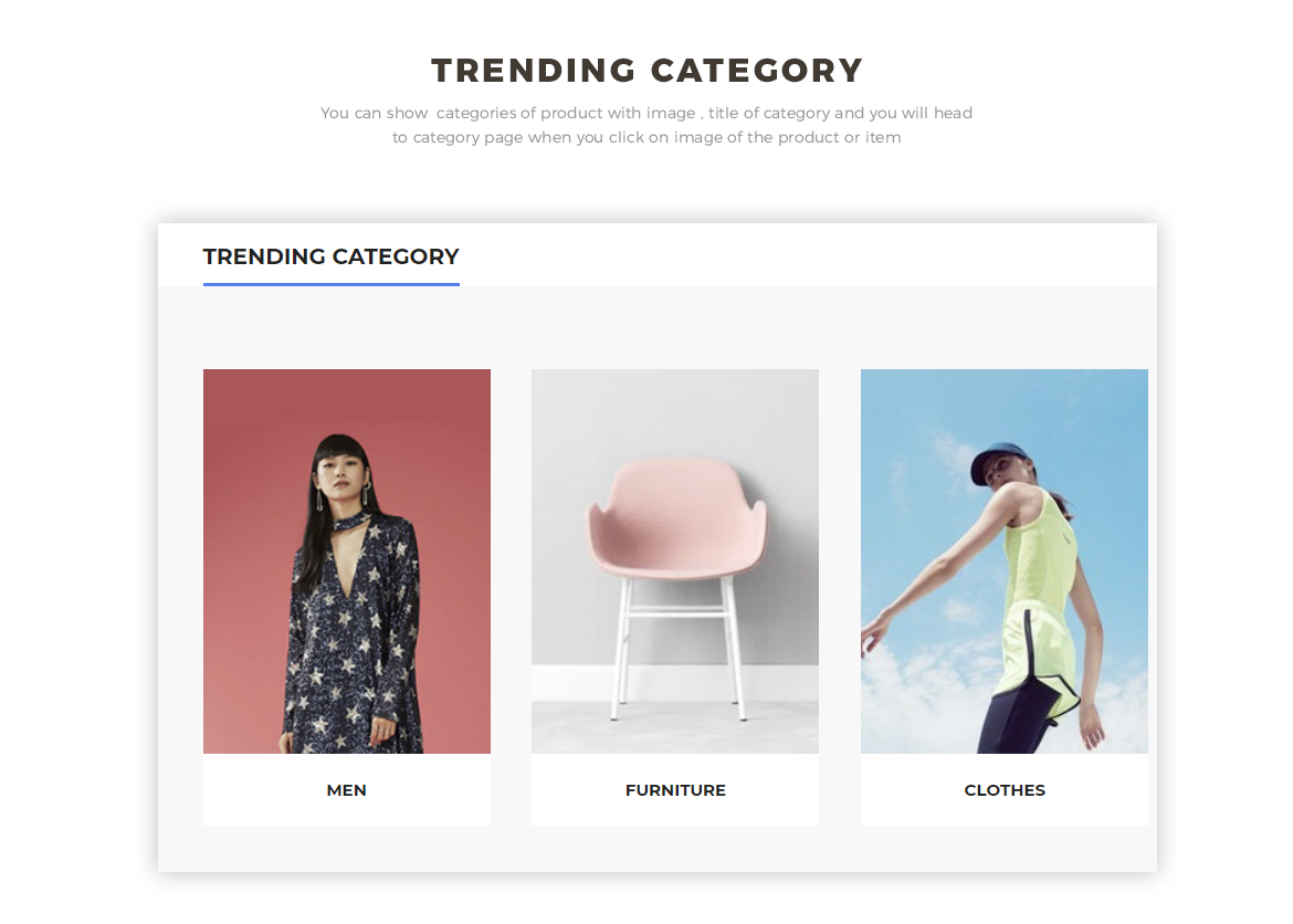 trending category - prestashop 1.7 theme for hitech