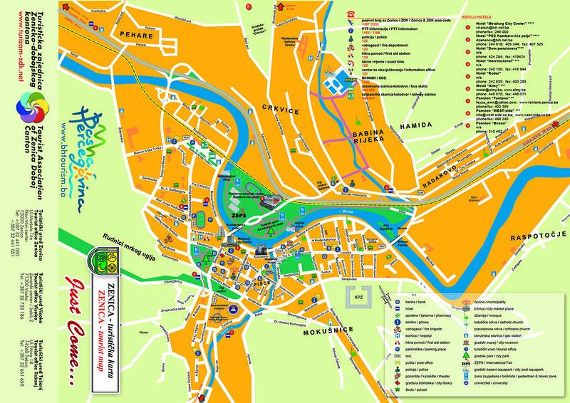 Туристическая карта Зеницы
