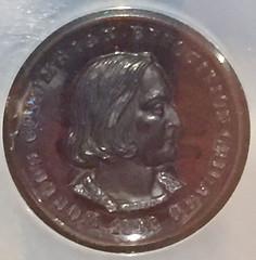 1892 GLASS CE Experimental Medal obv