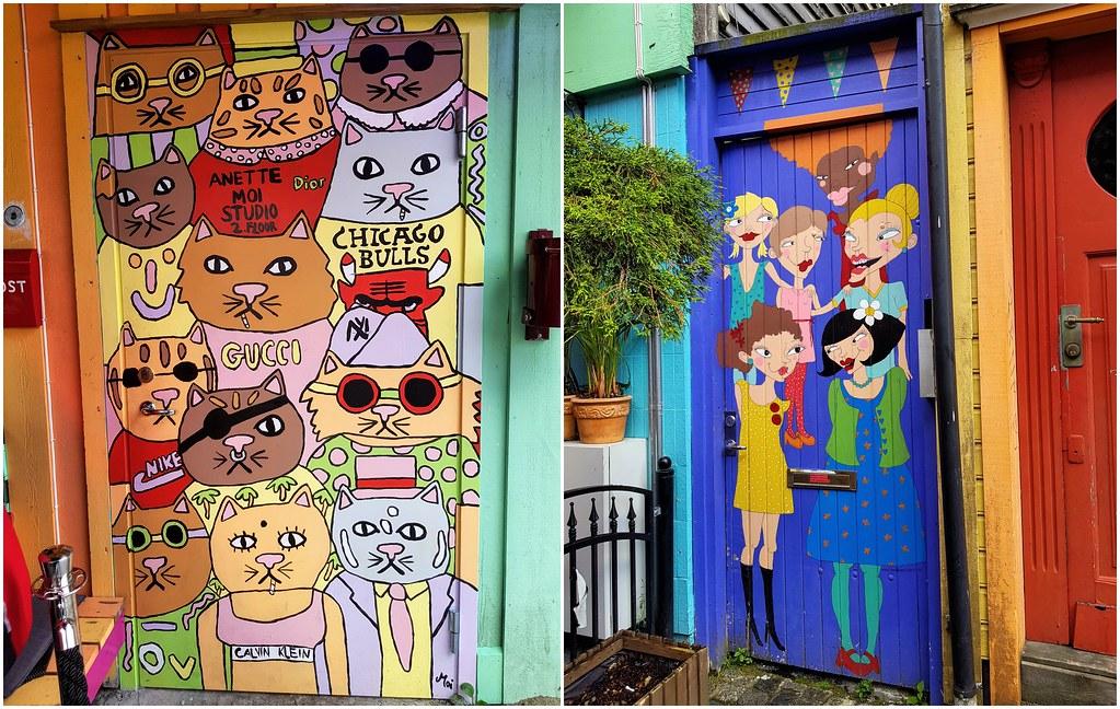 Fargegate kolorowe drzwi Stavanger