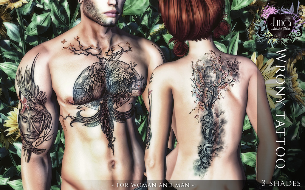 Wrony tattoo for Man and Woman