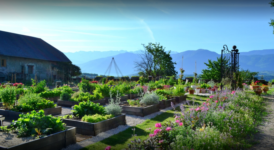 Jardins en carrés des Allues