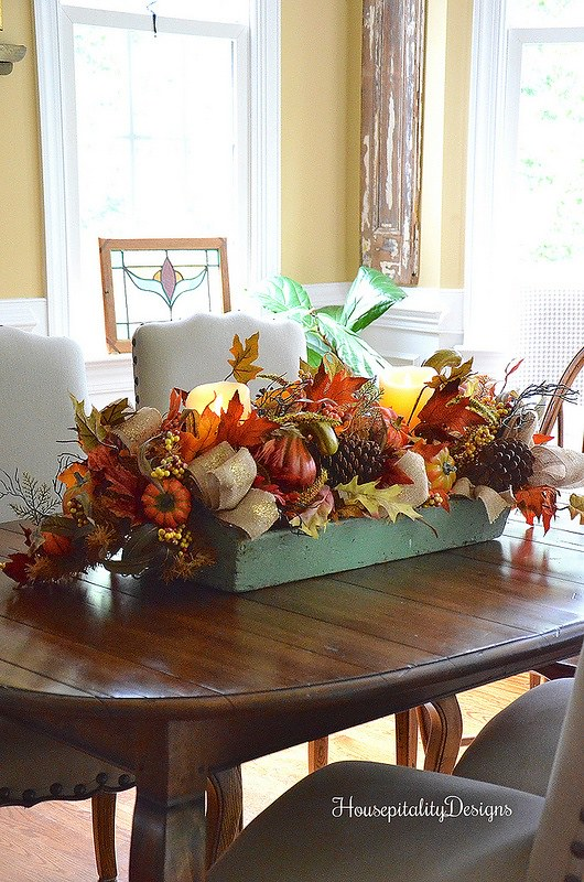 Fall Arrangment/Vintage Tool Box-Housepitality Designs
