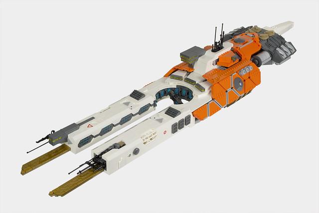 LEGO SHIPtember Antigona Class Light Frigate