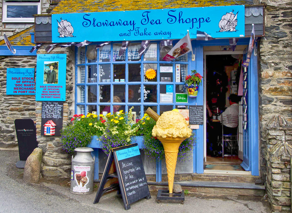 The Stowaway Tea Shoppe in Port Isaac, Cornwall. Credit Bob Radlinski, flickr