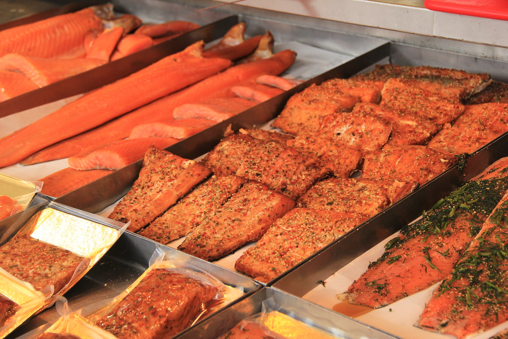 Salmon, Bergen's Fish Market