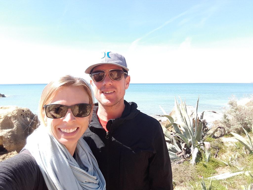 walking on Algarve coast