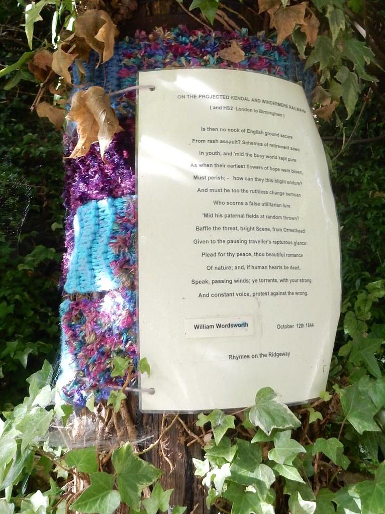 Poem on a tree 2 Princes Risborough to Wendover