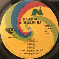 HUGH MASEKELA:MASEKELA(LABEL SIDE-B)