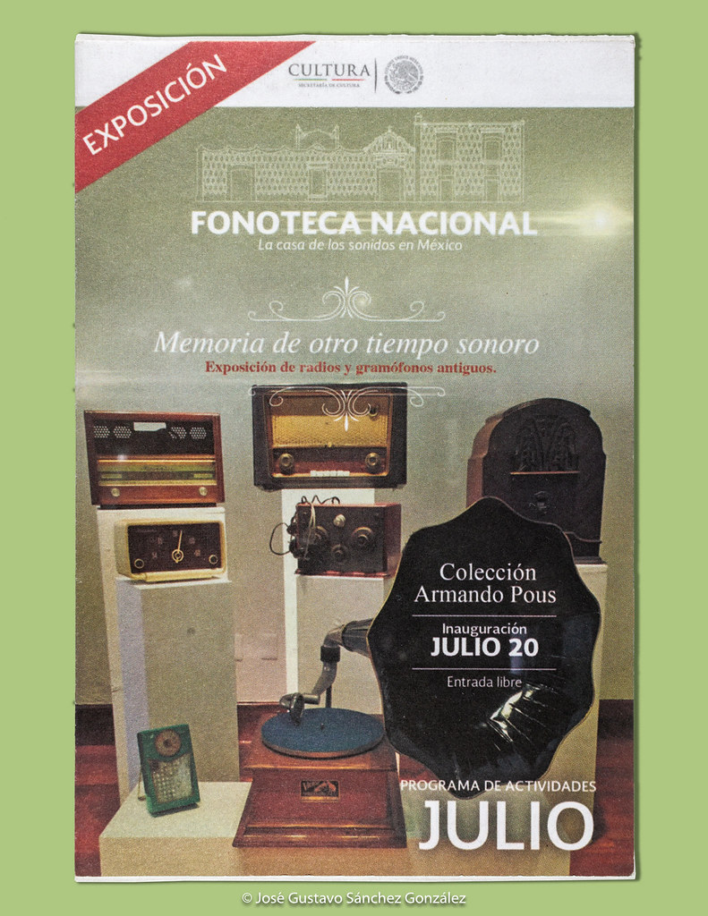 Invitation Card And Program Of Activities Of The Fonoteca