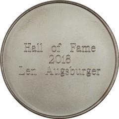 2018 LSCC Hall of Fame Augsburger medal