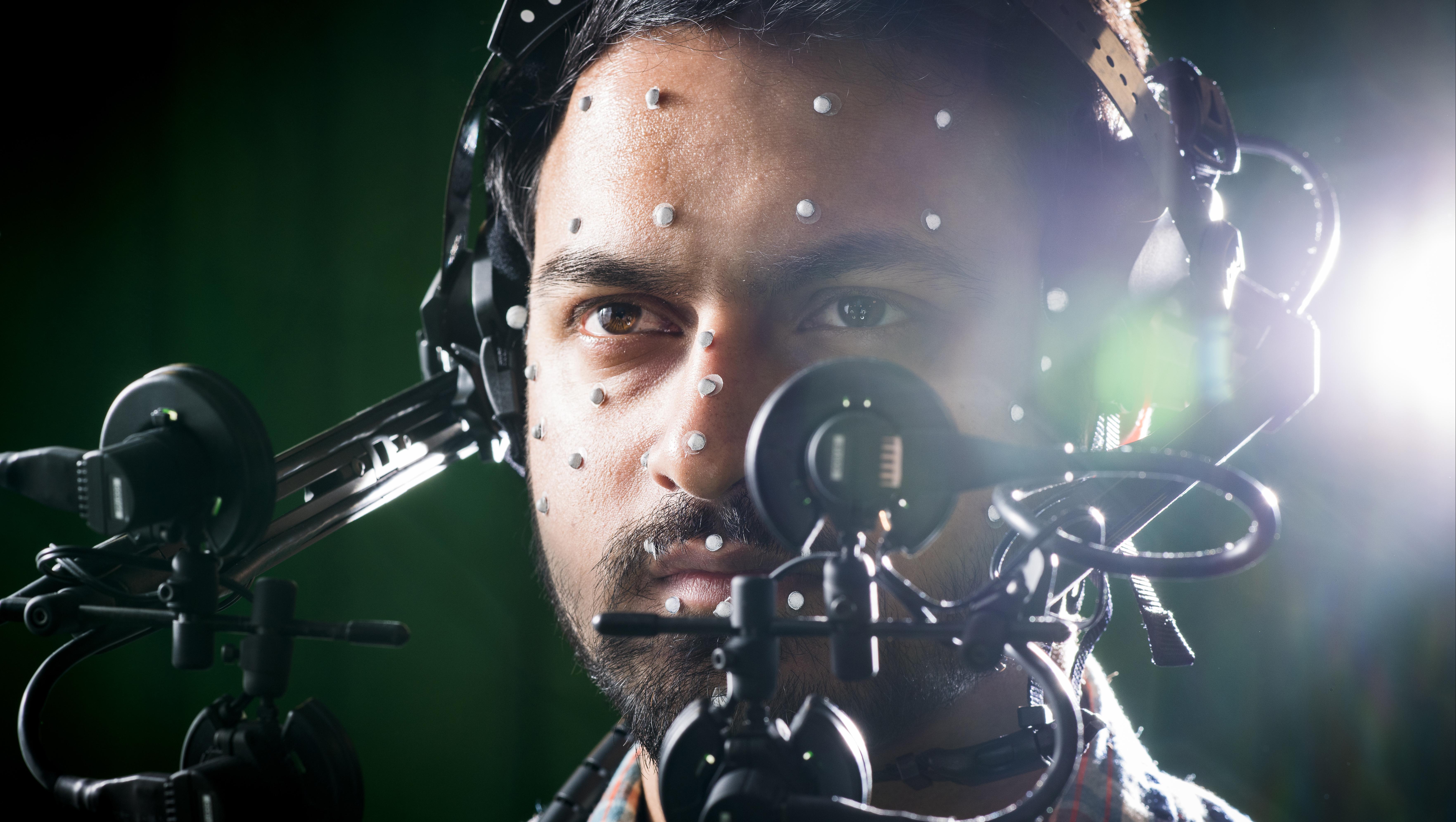 Man in CAMERA using VR technologies