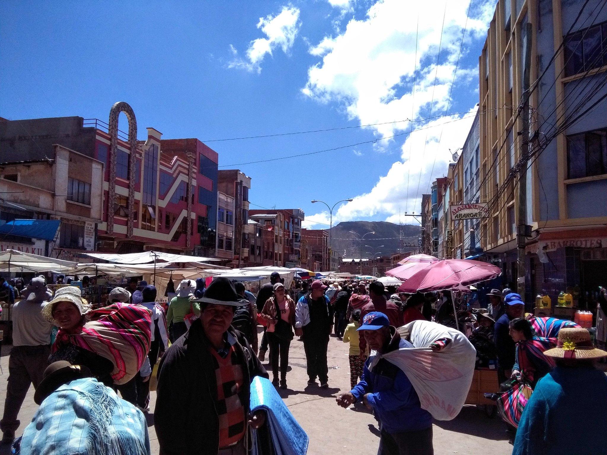 The bustling Bolivian side of Desaguadero