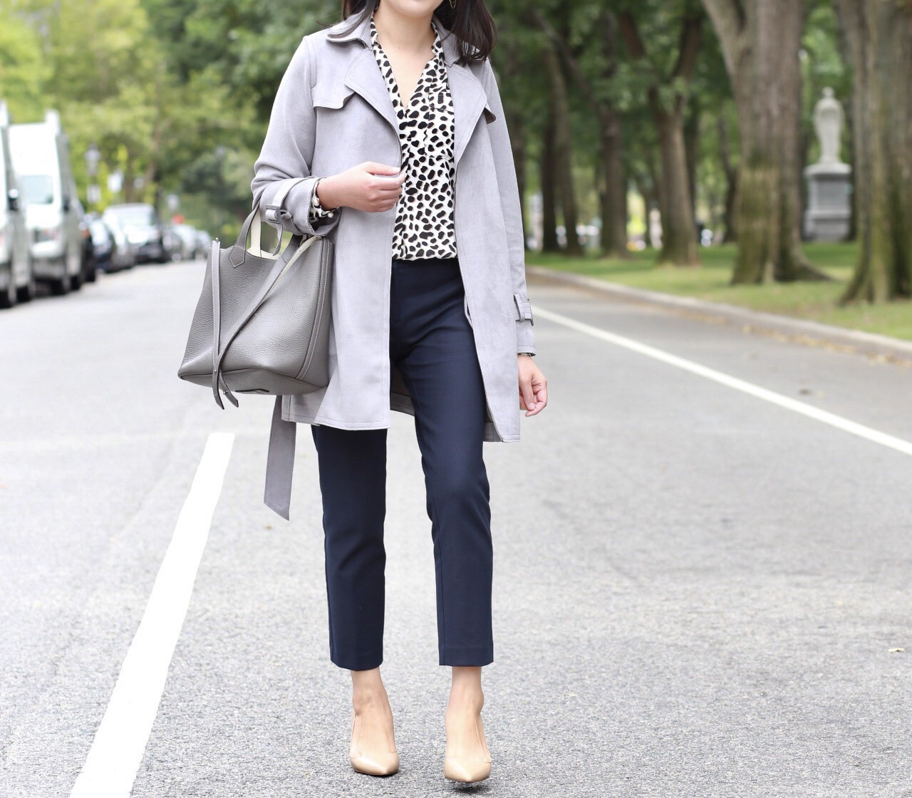 Fall Neutrals: Grey + Cheetah Print