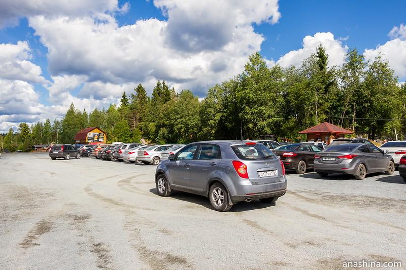 Автостоянка, Горный парк Рускеала