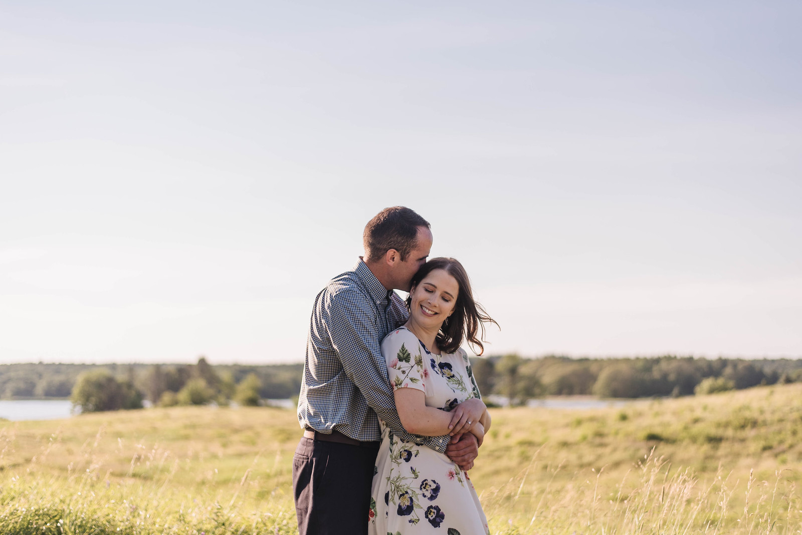 Jenna & Victor | Playful Maine Coast Engagement Session
